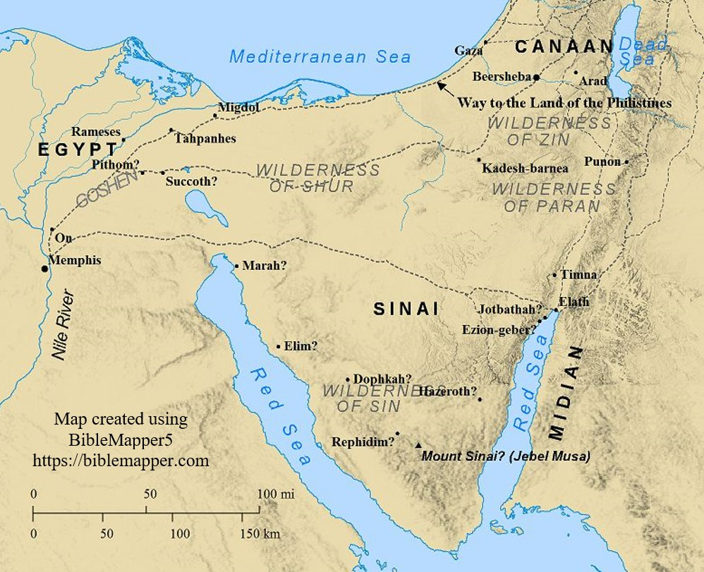 Bible Studies Exodus Free Bible Study Notes - Map of egypt moses